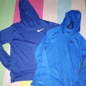 Two Nike hoodies kids